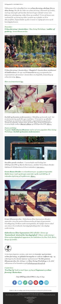 Urban farming / Månedligt brev