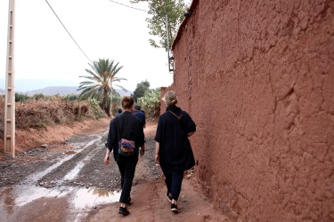 On the way to the womens cooperative initiated by High Atlas Foundation